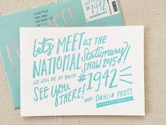 Oh So Beautiful Paper: NSS 2015 Mailers