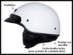 Casque Moto Custom ZOX Casque Custom Style Police US Banos Custom US