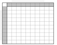 Blank Football Pool Template 100 Square Football Pool Sheet