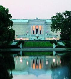 14 Reasons Cleveland Rocks | Midwest Living  Great picture of Cleveland Art Museum and Wade Lagoon
