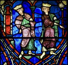 Chartres Cathedral Stained Glass - Bay 28b (The Life of the Virgin) Panel 21