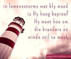 bemoedigende woord, God is vir jou, God is groter as storms, moenie moed verloor nie, moenie bang wees nie, moenie opgee nie, afrikaanse inspirasie Afrikaans, Storms, God, Dios, Thunderstorms, Allah, The Lord