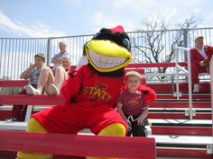 Sitting with Cy at a Cyclones softball game