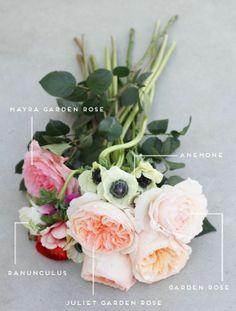 Anemone, roses, ranunculus
