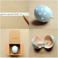 Egg note - super cute.