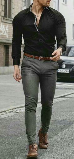 casual mens fashion which is great. Mens Fashion Wear, Fashion Mode, Business Casual Men, Men Casual, Casual Styles, Smart Casual, Mode Outfits, Fashion Outfits, Mode Man