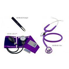 MDF® Calibra™ MD One™ Suite - MDF® MD One™ Stethoscope, MDF® Calibra™ Aneroid Sphygmomanometer, MDF® POCKET iLLUMiNATOR™ Professional Diagnostic Penlight - Purple (Purple Rain)