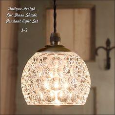 _ヴィンテージなガラスペンダントライトセット<bubble> - SELFISH +NET SHOP+   おしゃれな照明・天然木の家具・かわいい雑貨   セルフィッシュ Dining Lighting, Pendant Lighting, Room Lights, Ceiling Lights, Indirect Lighting, Candle Lanterns, Cut Glass, Glass Shades, Lamp Light