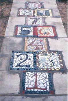 richtig gute Idee für Mosaik-Pflaster!