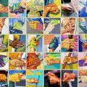 The Hands that Built Our City - To continue their longtime support of the arts, they partnered with ArtWorks to create this colorful mural, which highlights the hands of the workers featured in the famous Union Terminal mosaic murals by Winold Reiss, and was painted to mimic the look of real tile. The addition of new hands, those of two convention center employees and one ArtWorks youth Apprentice, nod to Cincinnati's vibrant future.