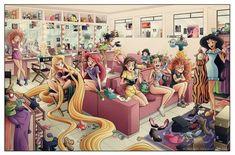 "danamilburn: "" kiss-da-girl: "" disney-princess-unite: "" pitchpipestarkid: "" howtotrainyourbabyboo: "" animationfanatic: "" thesmokinsmolder: "" a.by Eumenidi "" is this…. all the disney princesses in their dressing room getting ready in the. Walt Disney, Disney Art, Disney Pixar, Starwars, Pocket Princesses, Disney Princesses, Le Roi Lion, Ariel The Little Mermaid, Geek Culture"