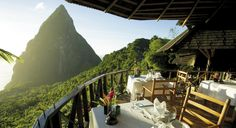 dasheene - st lucia, west indies check the other top 50 world's most amazing restaurants with spectacular views West Indies, Vacation Destinations, Vacation Spots, Vacation Travel, Dream Vacations, Ladera Resort, Trekking, St. Lucia, Bangkok