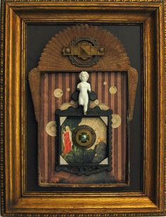 Hey, I found this really awesome Etsy listing at https://www.etsy.com/listing/179905380/framed-assemblage-in-antique-nicho