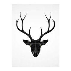 IXXI Deer Black & White Wandsysteem 160 x 120 cm