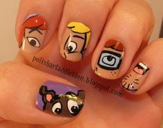 Scooby Doo Nails ( thank you polishartaddiction.blogspot.com )