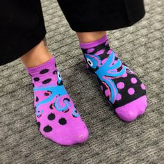 Octopus socks with inverse dots!