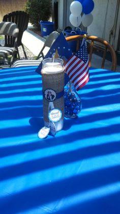 table centerpieces patrioticair force party