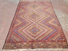 "9'11"" x 5'11"" Soft color Natural area rug, Vintage Turkish kilim rug, kilim rug, vintage rug, bohemian rug, Turkish rug, rug, tribal rug,"