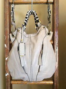 "Oryany ""Gwen"" Convertible Taupe Pebble Leather Shoulder Purse Hobo Bag XLG | eBay"