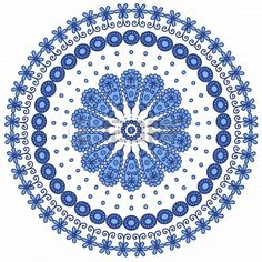Blue round lace