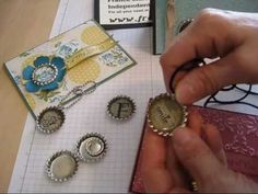 """Many use for the Stampin'Up! """"bottle cap: Soda Pop Tops  more info at www.frenciestamps.com on 3-8"""