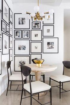 accrocher un tableau mur idée déco salle à manger