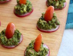 Pistachio Pesto Canapes