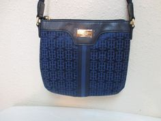 Tommy Hilfiger Small XBody Handbag 69230470478 Blue Gold Retail Price $59.00 #TommyHilfiger #MessengerCrossBody