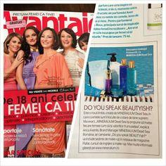 Revista Avantaje povesteste despre limbajul frumusetii by Mineralium Dead Sea in numarul de luna aceasta. Multumim, Catalina Ioancea!