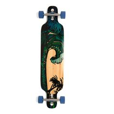 Bamboo Green Giant Drop Through Longboard