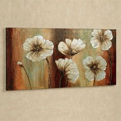 Dancing Floral Blooms Multi Warm Canvas Art - Hobbies paining body for kids and adult Art Painting Gallery, Art Paintings, Lotus Flower Art, Art Inspiration Drawing, Drawing Ideas, Plant Drawing, Acrylic Art, Art Drawings, Canvas Art