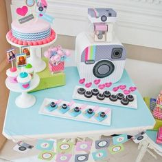 Cute Social Media Cake and treats.