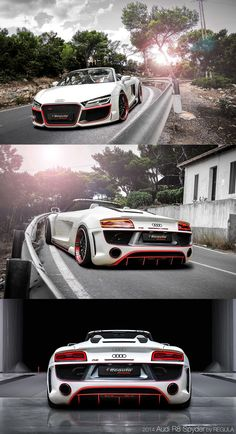 2014 Audi by REGULA tuning. These cars are the fastest cars in the world. Are Lamborghini, Ferarri, Bugati, or other famous brands? Audi R8 V10, Allroad Audi, Audi S5, Maserati, Lamborghini, Ferrari, Bugatti, Sexy Cars, Hot Cars