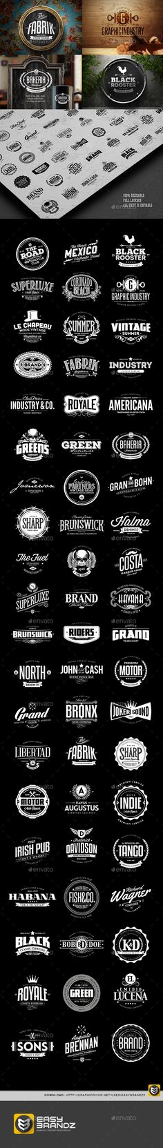 60 Badges & Logos Collection - Badges & Stickers Web Elements