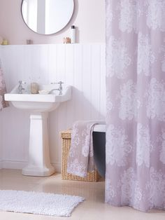 Catherine Lansfield Versaille Shower Curtain | very.co.uk