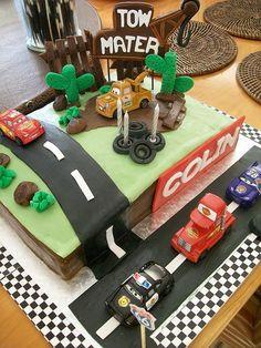 Chocolate bowls: Disney cars cake