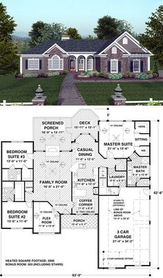 #Ranch #HousePlan 74811 | The exceptional master suite, with direct access to the deck, a sitting area, full-featured bath and spacious walk-in closets, create a true "|236|403|?|en|2|ae3a2c577a9cac702bff912b607725bf|False|UNLIKELY|0.31672701239585876