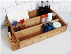 Wooden Beauty Organizer Cosmetic Organizer Makeup Organizer | eBay