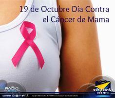 19 de Octubre Día Internacional contra el #CáncerDeMama. Cada año, el 19 de octubre se celebra el Día Contra el #Cáncer de Mama como recordatorio del compromiso de toda la sociedad en la lucha contra el cáncer de mama. Según la Organización Mundial de la Salud El cáncer de mama es el cáncer más frecuente en las #mujeres tanto en los países desarrollados como en los países en desarrollo.
