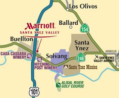Here is a map of the attractions surrounding our listing at: 2850 Quail Valley Road Solvang, CA 93463