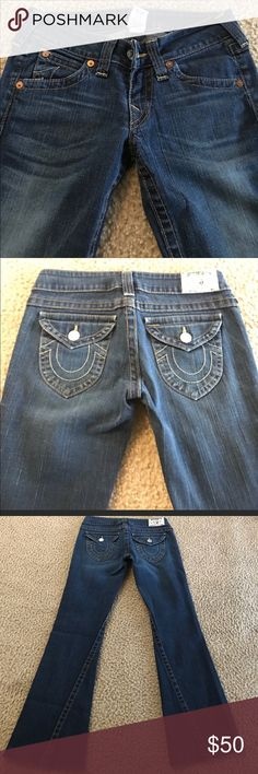 True Religion Jeans Size 28 Repost from Posh my thighs are too fat for a size 28 😂 My loss, your gain. Great condition from smoke free pet free homes True Religion Jeans Boot Cut