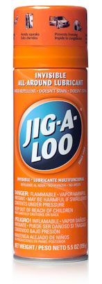 Jig-A-Loo - an invisible silicone-based lubricant and water-repellent ! For the awning rail.