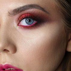 ОФИЦИАЛЬНАЯ. Тени SIGIL inspired от Тамми Тануки Red Eye Makeup, Red Eyes, Make Up, Beauty, Bloodshot Eyes, Makeup, Maquiagem, Pink Eyes