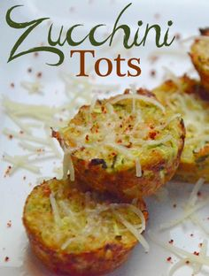 Zucchini Tots-Looks good but I would substitute egg whites for 2 eggs and whole wheat flour for almond flour to lower sensitivity to my food allergies