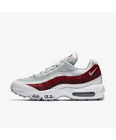 new concept 1c312 1839d discover cheap nike air max 95 essential white pure platinum team red wolf  grey men s trainer shoes, special discount pricing for you!