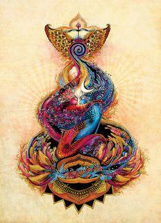 In search of life Divine ~ Shiva & Shakti ~ divine love by Pooja Bhapkar, via Behance