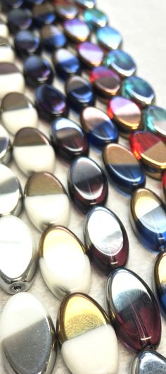 Cathedral glass beads, also known as plated glass beads from House of Gems. Kami Garcia, Translucent Glass, Jewelry Quotes, Nespresso, Glass Beads, Plating, Eyeshadow, Gems, Cathedral