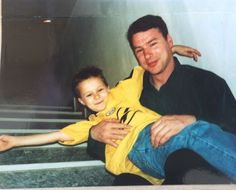 Pictures of Christopher on the abductees steps just 5 months after he was abducted on a family holiday in Greece