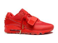 separation shoes 605c4 fc408 Nike Air Max 90 Yeezy 2 Design by Blkvis - Chaussure pour Homme Pas Cher  Rouge-508214-600 - Boutique Nike, Nike Baskets Pas Cher en Ligne