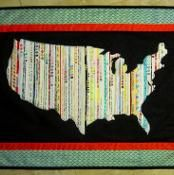 USA Selvage Silhouette Quilt - via @Craftsy